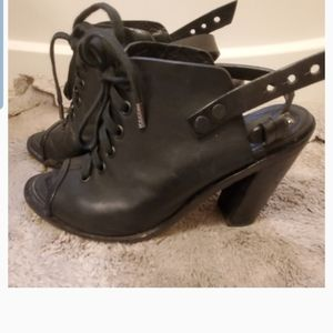 Rag and bone tafford lace-up peep toe boot